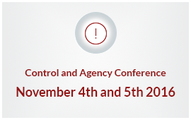 Control and Agency Conference, September 4th and 5th 2016